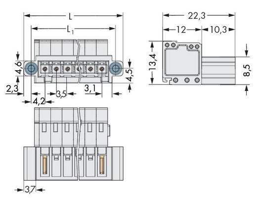 WAGO 734-306/109-000 Male header (standaard) 2140 Totaal aantal polen 6 Rastermaat: 3.50 mm 50 stuks