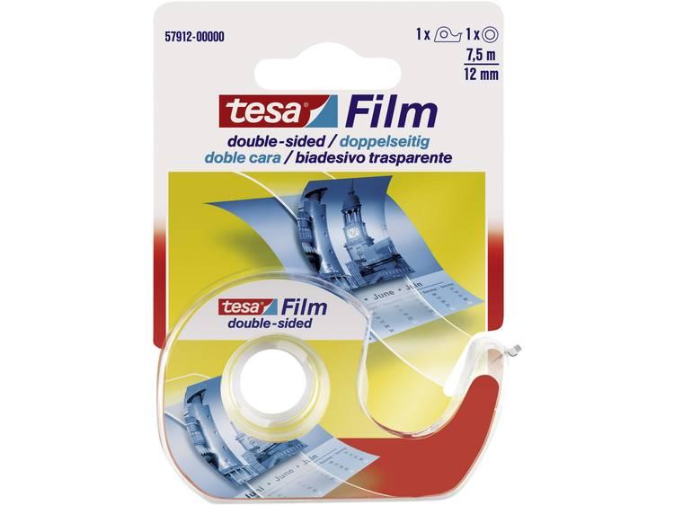 Dubbelzijdige plakband tesa film 12mmx7.5m +dispenser bliste
