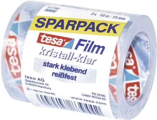 tesa tesafilm Transparant (l x b) 10 m x 15 mm Inhoud: 3 rollen