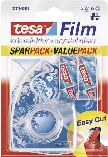tesa tesafilm Transparant (l x b) 10 m x 15 mm Inhoud: 2 rollen