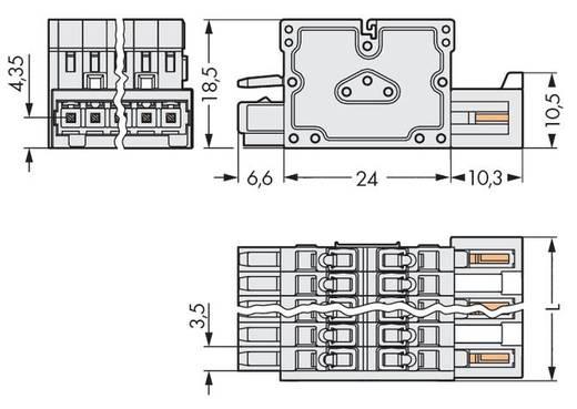 WAGO 734-366 Combi-connector 2140 Totaal aantal polen 6 Rastermaat: 3.50 mm 50 stuks