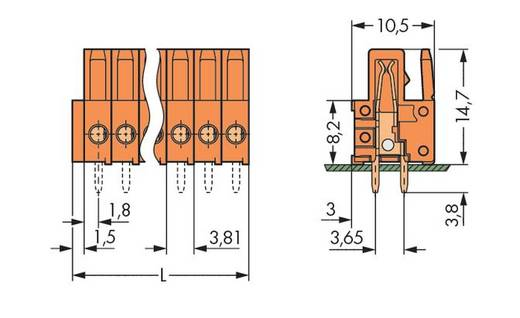 WAGO 734-514 Busbehuizing-board 734 Totaal aantal polen 14 Rastermaat: 3.81 mm 25 stuks