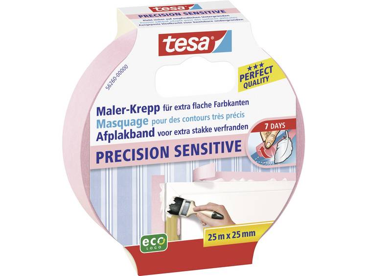 Tesa Precision Sensitive Afplakband Roze 25 M X 25 Mm