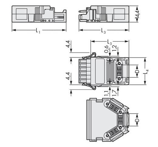 WAGO 734-608 Vastklikbare trekontlastingsbehuizing Inhoud: 25 stuks
