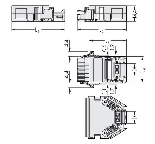 WAGO 734-639 Vastklikbare trekontlastingsbehuizing Inhoud: 25 stuks