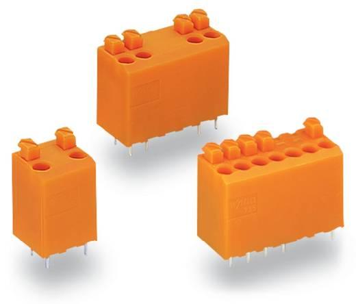 Veerkachtklemblok Aantal polen 5 WAGO Oranje 180 stuks