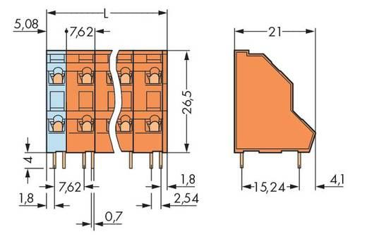 Dubbeldeksklem 2.50 mm² Aantal polen 24 WAGO Oranje 14 stuks