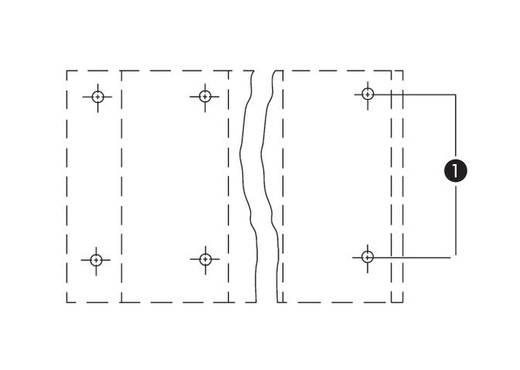 Dubbeldeksklem 2.50 mm² Aantal polen 6 WAGO Grijs 70 stuks