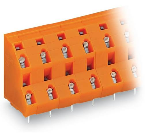 Dubbeldeksklem 2.50 mm² Aantal polen 6 736-803 WAGO Oranje 70 stuks