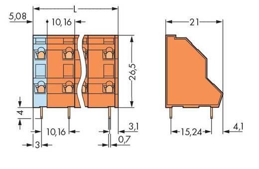 Dubbeldeksklem 2.50 mm² Aantal polen 16 736-808 WAGO Oranje 21 stuks