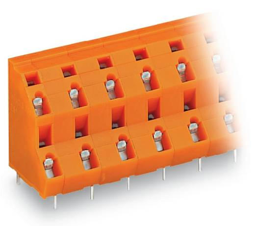 Dubbeldeksklem 2.50 mm² Aantal polen 6 WAGO Oranje 70 stuks