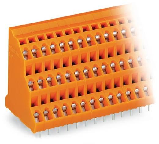 Drie niveau klem 2.50 mm² Aantal polen 24 737-408 WAGO Oranje 24 stuks