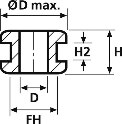 Kabeldoorvoering Klem-Ø (max.) 4 mm PVC Zwart HellermannTyton HV1209-PVC-BK-M1 1 stuks