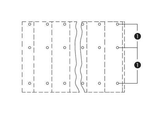 Drie niveau klem 2.50 mm² Aantal polen 6 WAGO Grijs 64 stuks