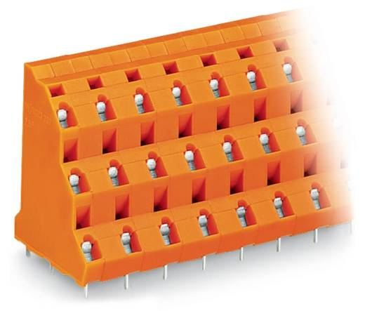 Drie niveau klem 2.50 mm² Aantal polen 12 737-804 WAGO Oranje 28 stuks