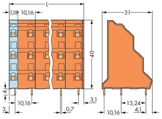 Drie niveau klem 2.50 mm² Aantal polen 6 WAGO Oranje 64 stuks