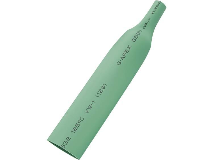 TRU COMPONENTS 1566763 Krimpkous zonder lijm Groen 9 mm Krimpverhouding:2:1 10 m
