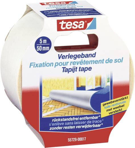 TESA Bevestigingstape Transparant (l x b) 5 m x 50 mm Inhoud: 1 rollen