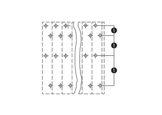Vier niveau klem 2.50 mm² Aantal polen 64 WAGO Grijs 9 stuks