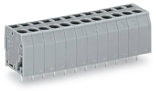 Veerkachtklemblok 2.50 mm² Aantal polen 10 WAGO Grijs 80 stuks