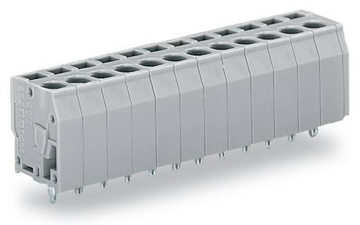 Veerkachtklemblok 2.50 mm² Aantal polen 3 WAGO Grijs 280 stuks