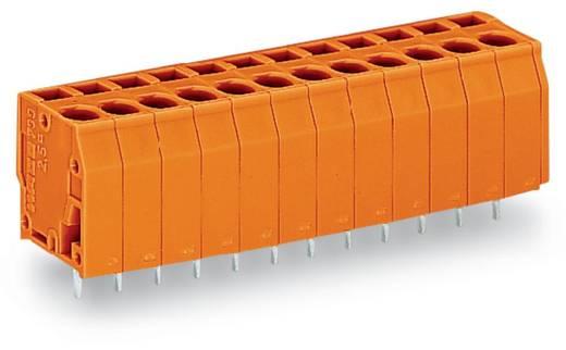 Veerkachtklemblok 2.50 mm² Aantal polen 12 WAGO Oranje 60 stuks