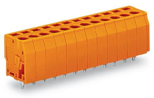 Veerkachtklemblok 2.50 mm² Aantal polen 12 739-162/100-000 WAGO Oranje 60 stuks
