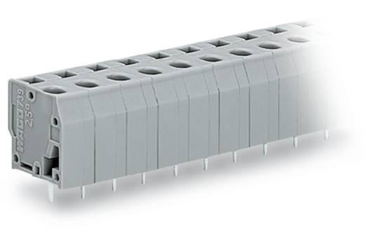 Veerkachtklemblok 2.50 mm² Aantal polen 10 739-210 WAGO Grijs 60 stuks