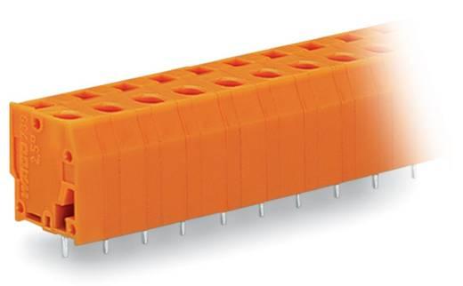 Veerkachtklemblok 2.50 mm² Aantal polen 5 WAGO Oranje 120 stuks