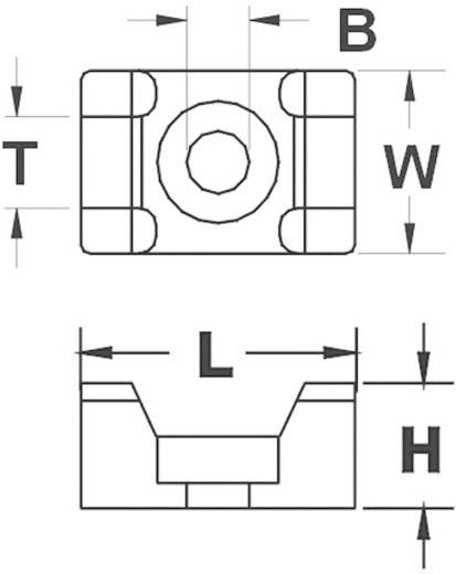 Bevestigingssokkel Schroefbaar Wit KSS 544848 HC2S 1 stuks