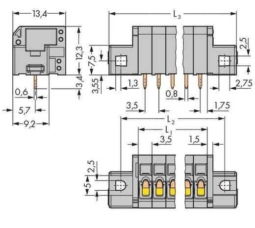 Veerkachtklemblok 1.50 mm² Aantal polen 9 WAGO Grijs 80 stuks