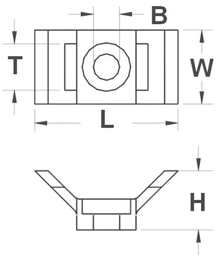 Bevestigingssokkel Schroefbaar Wit KSS 28530c83 HC4 1 stuks