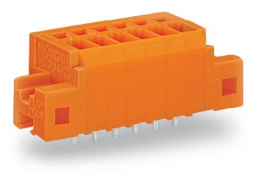Veerkachtklemblok 1.50 mm² Aantal polen 6 KLEMMENL.CC,EINLÖTK.3,81 6-POL.GREY WAGO Oranje 120 stuks