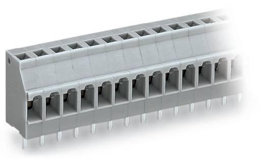 Veerkachtklemblok 2.50 mm² Aantal polen 10 TERM STRIP WAGO Grijs 80 stuks