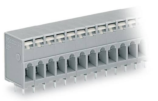 Veerkachtklemblok 2.50 mm² Aantal polen 3 FEEDTHROUGH PCB TERMINAL 6-POLE GREY WAGO Grijs 280 stuks