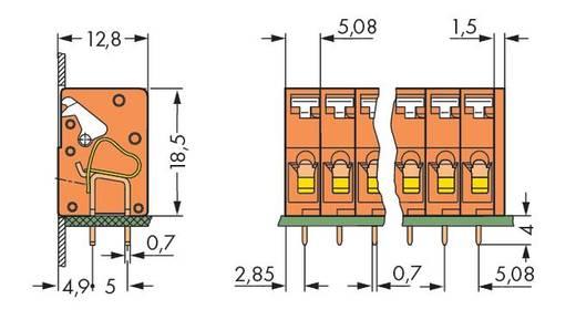 Veerkachtklemblok 2.50 mm² Aantal polen 3 WAGO Oranje 280 stuks