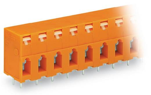 Veerkachtklemblok 2.50 mm² Aantal polen 10 741-410 WAGO Oranje 60 stuks
