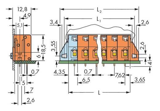 Veerkachtklemblok 2.50 mm² Aantal polen 9 WAGO Oranje 40 stuks