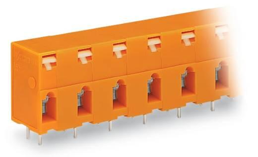 Veerkachtklemblok 2.50 mm² Aantal polen 6 WAGO Oranje 80 stuks