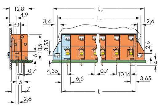 Veerkachtklemblok 2.50 mm² Aantal polen 6 741-626 WAGO Oranje 60 stuks