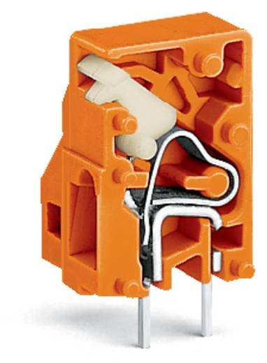 Veerkachtklemblok 2.50 mm² Aantal polen 1 WAGO Oranje 500 stuks
