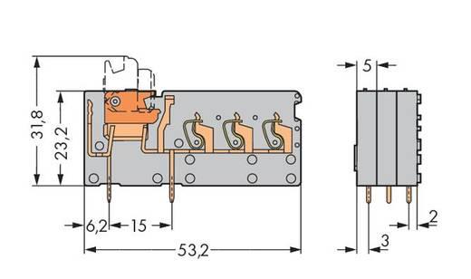 Veerkachtklemblok 2.50 mm² Aantal polen 1 742-153 WAGO Grijs 100 stuks