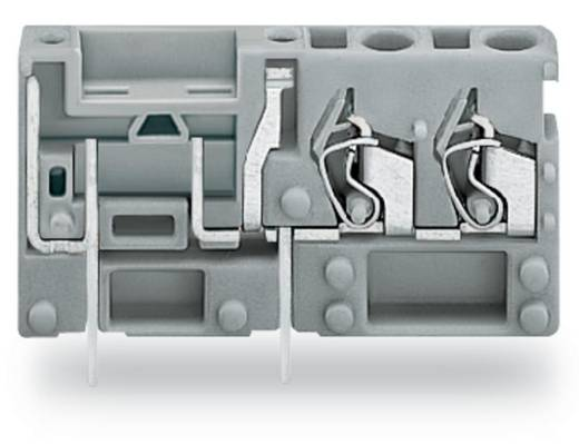 Veerkachtklemblok 2.50 mm² Aantal polen 1 WAGO Grijs 200 stuks