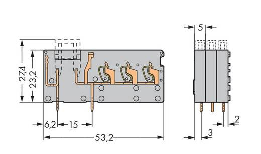 Veerkachtklemblok 2.50 mm² Aantal polen 1 742-163 WAGO Grijs 100 stuks