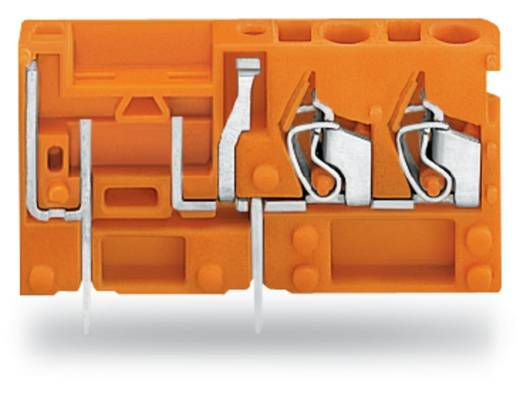 Veerkachtklemblok 2.50 mm² Aantal polen 1 742-166 WAGO Oranje 200 stuks