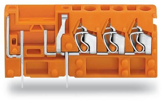 Veerkachtklemblok 2.50 mm² Aantal polen 1 742-168 WAGO Oranje 100 stuks