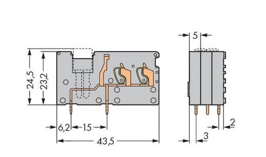 Veerkachtklemblok 2.50 mm² Aantal polen 1 742-171 WAGO Grijs 200 stuks