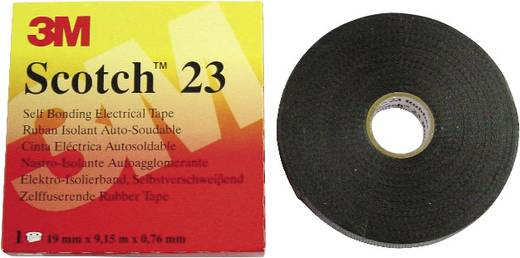 3M Scotch 23 Reparatietape Zwart (l x b) 9.15 m x 19 mm Inhoud: 1 rollen