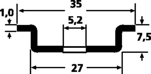 HellermannTyton DELTA-3F/BV DIN-rail Geperforeerd Plaatstaal 2000 mm 1 stuks