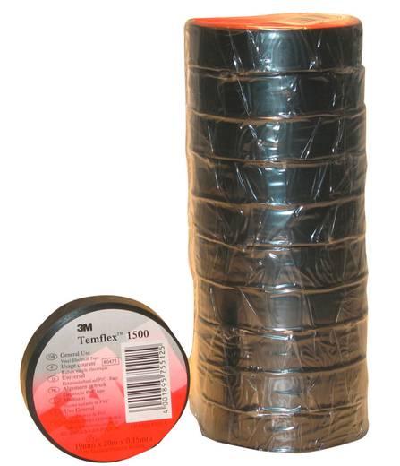 3M Temflex 1500 Isolatietape Zwart (l x b) 10 m x 15 mm Inhoud: 1 rollen